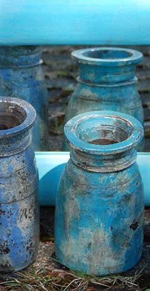 blaue Vasen - Wohnaccessoires –Schroeders Kontor Gilching